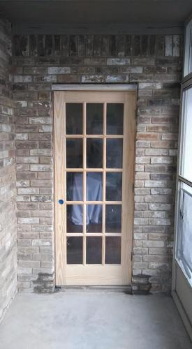 Wood/Glass Door