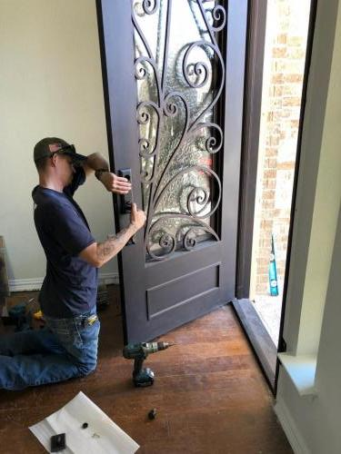 New 8ft Iron Door Hardware