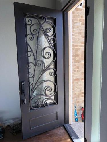 8ft Iron Door